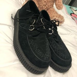 tuk black gothic punk creepers
